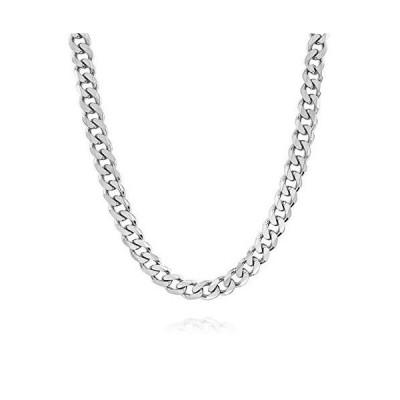 【並行輸入品】Verona Jewelers イタリアン925ソリッドスターリングシルバー メンズネックレス 7.5mm 8mm 11mm 15mm