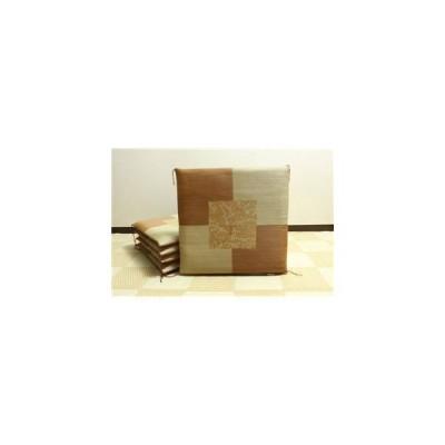 ds-862350 純国産/日本製 捺染返し い草座布団 『草美(くさび) 5枚組』 ブラウン 約55×55cm×5P (ds862350)