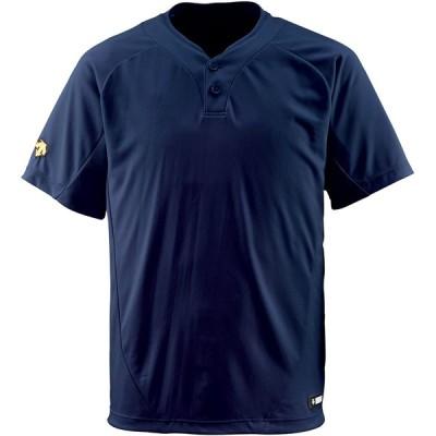 DESCENTE(デサント) 野球 2ボタンTシャツ ダークネイビー Lサイズ DB201