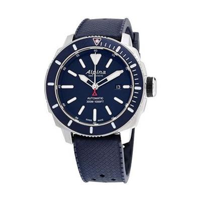 Alpina メンズ SEASTRONG Diver 300 ステンレススチール 自動巻き腕時計 ラバーストラップ付き ブラック 22 (モデル:AL