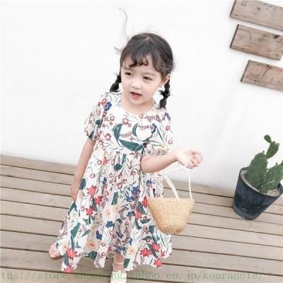 子供服 女の子 ワンピースドレス 子供ワンピース ワンピース 女の子 マキシ丈 ロング 超可愛い 韓国 キッズ 海へ おしゃれ シフォン マキシワンピース