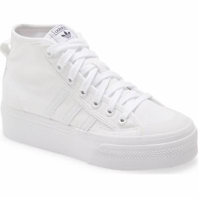 アディダス ADIDAS レディース スニーカー シューズ・靴 Nizza Mid Top Platform Sneaker White/White/White