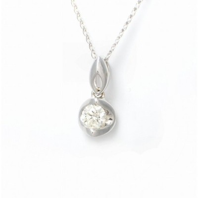 ENZO エンツォ ダイヤ ネックレス ペンダント K18WG ホワイトゴールド ダイヤモンド ダイヤ0.31 (中古)