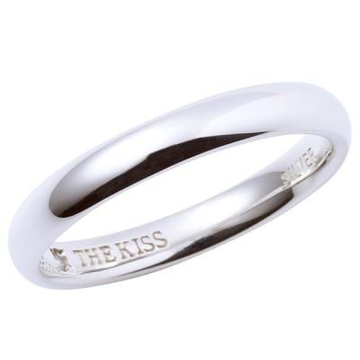 THE KISS ザ キッス シルバー ブランド ペアリング 1本販売 SV925製 シンプルライン 筆記体.日本語.ハート.刻印可能 SR1540DM 結婚指輪 マリッジリング