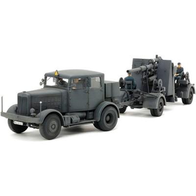 タミヤ 1/48 イタレリシリーズ No.27 ドイツ重牽引車 SS-100・88mm砲FLAK37セット プラモデル 37027