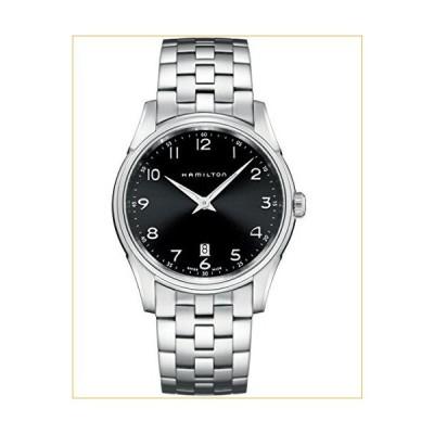 Hamilton Men's H38511133 Jazzmaster Slim Black Dial Watch 並行輸入品