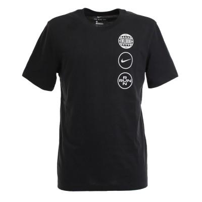NIKEランニング DRI-FIT ワイルド ラン ショートスリーブ クルー 半袖 Tシャツ CZ8329-010ブラック