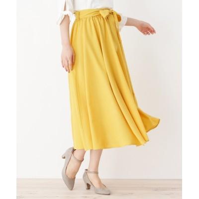 WORLD ONLINE STORE SELECT / 【洗える】サッシュベルトフレアスカート WOMEN スカート > スカート