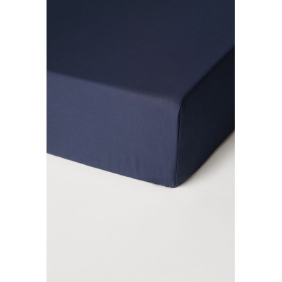 H&M - コットンサテンフィットシーツ - ブルー