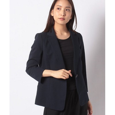 <Leilian(Women)/レリアン> テーラードジャケット ネービーブルー【三越伊勢丹/公式】