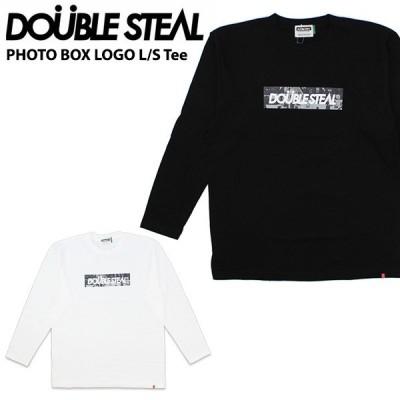 ダブルスティール DOUBLE STEAL PHOTO BOX LOGO L/S Tee 長袖Tシャツ  メンズ[AA-2]