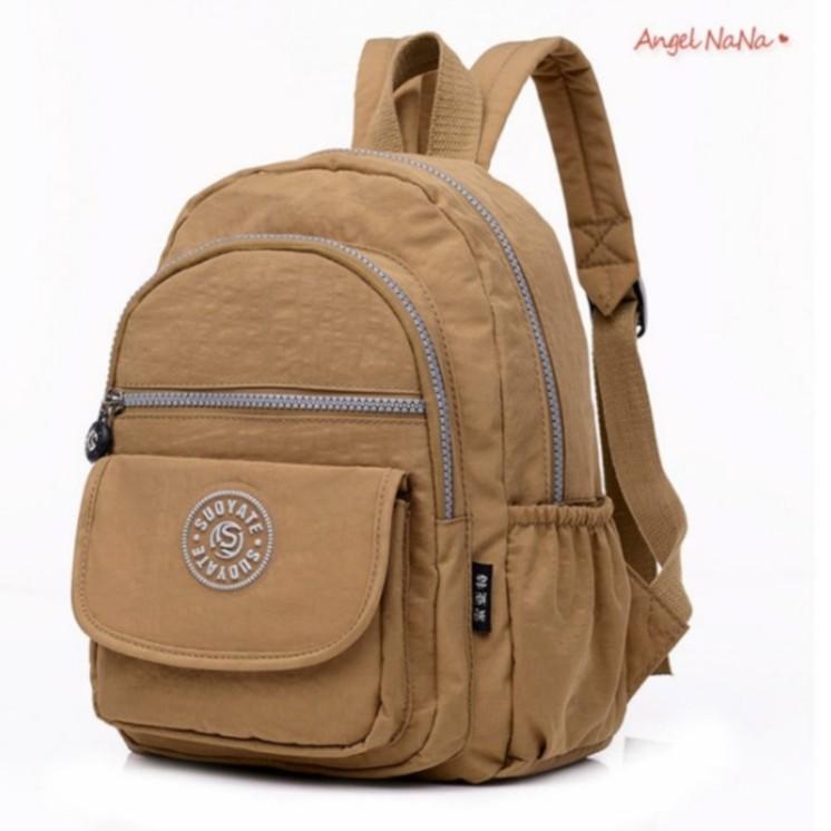 【AngelNaNa】後背包-超輕量防潑水尼龍水洗布雙肩包(小)  (SBA0362)