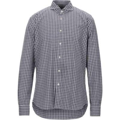 ザカス XACUS メンズ シャツ トップス checked shirt Dark blue