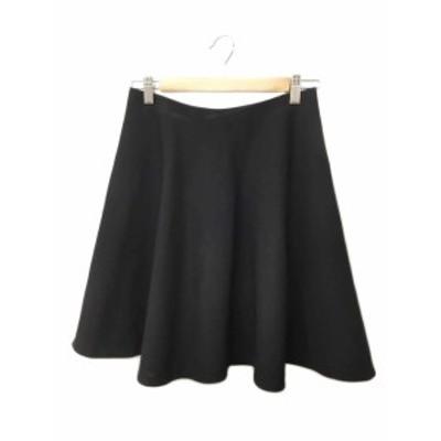 【中古】デプレ DES PRES トゥモローランド スカート フレア ひざ丈 1 黒 ブラック レディース