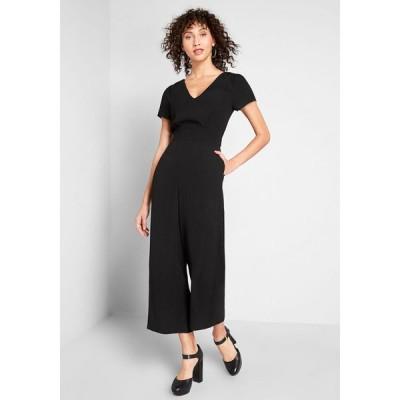 レディース オールインワン ジャンプスーツ ワンピース・ドレス aiming higher cropped jumpsuit black