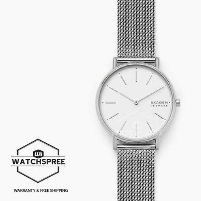 スカーゲン 腕時計 Skagen Ladies' Signatur Silver-Tone Steel-Mesh Watch SKW2785