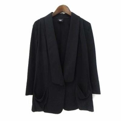 【中古】ビッキー VICKY ジャケット 2 M 黒 ブラック ポリエステル 七分袖 無地 シンプル レディース