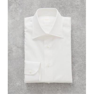 メンズ エディフィス セミワイド ポプリン シャツ ホワイト 38