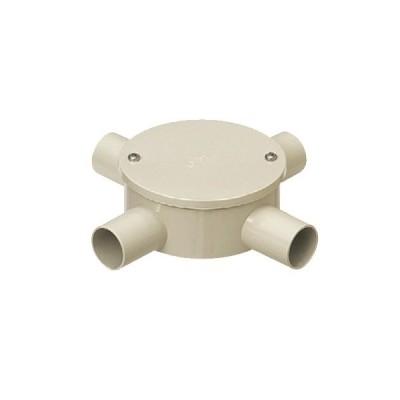未来工業:露出用丸形ボックス(カブセ蓋)1方出〜4方出(防水タイプ) 型式:PVM16-4KPM