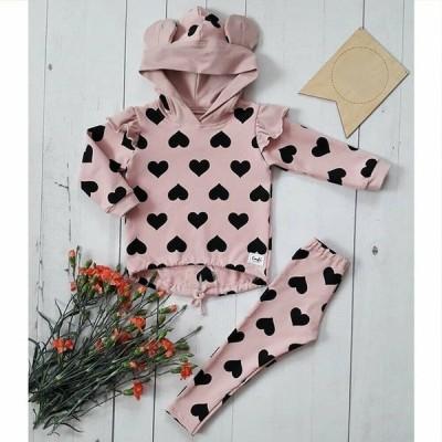 トレーナー パンツ ピンク 動物の耳 ハート 女の子 子供服