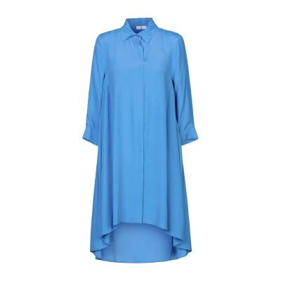 SFIZIO ミニワンピース&ドレス アジュールブルー 40 アセテート 87% / シルク 13% ミニワンピース&ドレス