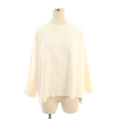 エンフォルド Tシャツ カットソー バックジップ 半端袖 38