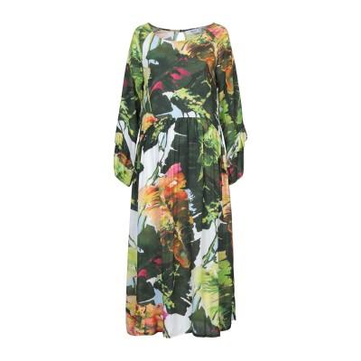 ブルーガール ブルマリン BLUGIRL BLUMARINE 7分丈ワンピース・ドレス グリーン 44 レーヨン 100% 7分丈ワンピース・ドレス
