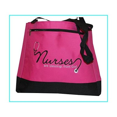 Swanson Christian Supply 18173 Tote Nurses Are Blessings From God Pink Black
