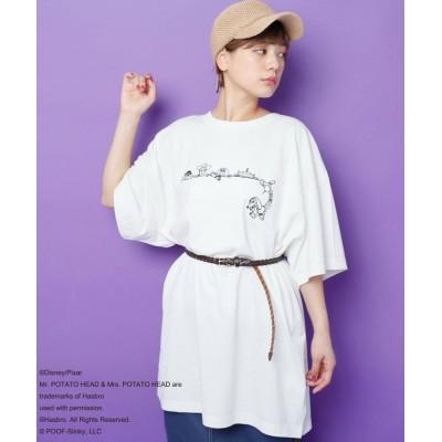 【ダブルネーム】 <TOY STORY> BACKロゴTシャツ レディース オフ白 FREE DOUBLE NAME