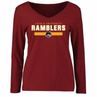 Fanatics Branded ファナティクス ブランド スポーツ用品  Loyola Chicago Ramblers Womens Maroon Team Strong Long S