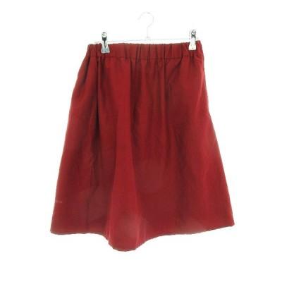 【中古】ショコラフィネローブ chocol raffine robe スカート フレア ひざ丈 無地 M 赤 レッド /CK レディース 【ベクトル 古着】