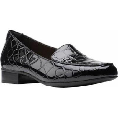 クラークス レディース スリッポン・ローファー シューズ Women's Clarks Juliet Lora Loafer Black Croco Synthetic Patent