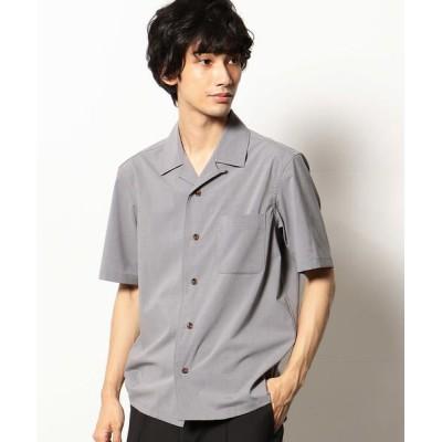 COMME CA COMMUNE/コムサコミューン オープンカラーシャツ ライトグレー L