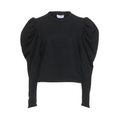WEILI ZHENG スウェットシャツ ブラック M コットン 65% / ポリエステル 35% スウェットシャツ