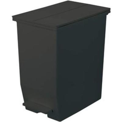 ゴミ箱/ダストボックス リス SOLOW ペダルオープンツイン 45L ブラック 【同梱不可】【代引不可】[▲][TP]