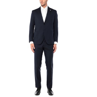 BRANDO スーツ ダークブルー 54 ウール 100% スーツ
