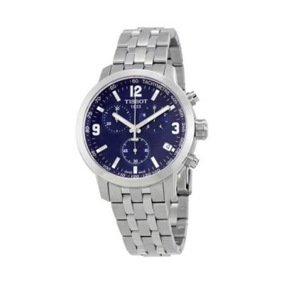腕時計 ティソット Tissot PRC 200 クロノグラフ ブルー ダイヤル ステンレス スチール メンズ 腕時計 T0554171104700