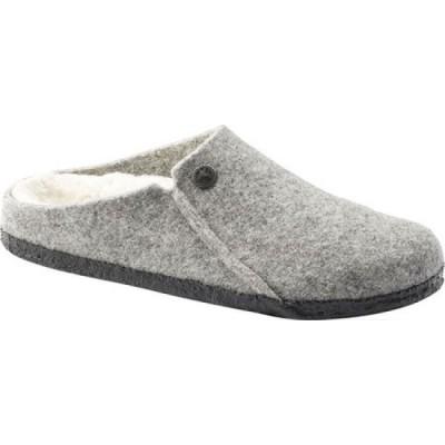 ビルケンシュトック Birkenstock レディース スリッパ シアリング シューズ・靴 Zermatt Shearling Clog Slipper Light Gray/Natural Wool