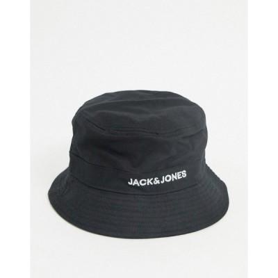 ジャック アンド ジョーンズ メンズ 帽子 アクセサリー Jack & Jones bucket hat in black Black