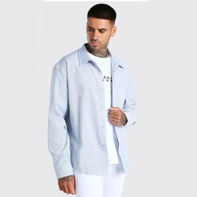 boohoo(ブーフー)長袖 特大 コードシャツ 大きいサイズあり 流行 最新