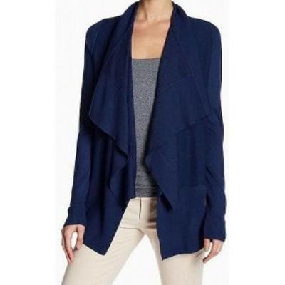 ファッション トップス Cyrus NEW Blue Womens Size Large L Open-Front Draped Cardigan Sweater