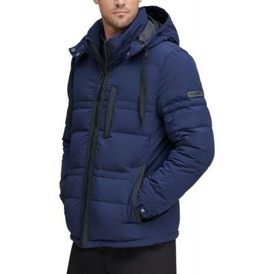 マークニューヨーク Marc New York メンズ ダウン・中綿ジャケット アウター Huxley Crinkle Down Jacket with Removable Hood Ink