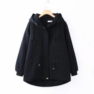 コート アウター レディース ガールズ 中綿コート ロングコート あったか フード付き 中綿アウター 暖か 防寒 通勤 裏起毛 アウター