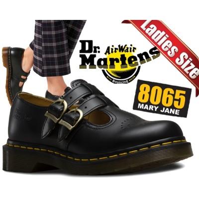 【ドクターマーチン レディース】Dr.Martens 8065 MARY JANE SMOOTH BLACK【ダブルストラップシューズ メリージェーン レディース 8065 レザー シューズ マニッシ