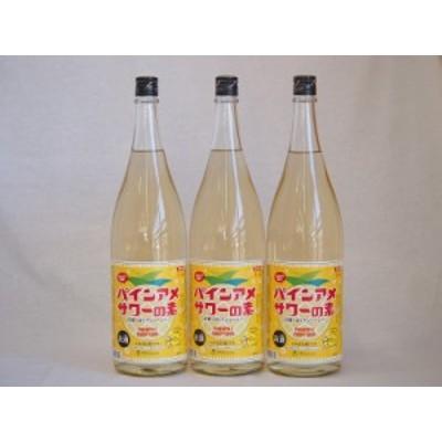 パインアメサワーの素 甘酸っぱくジューシーパイナップル果汁 25度 中野BC(和歌山県)1800ml×3