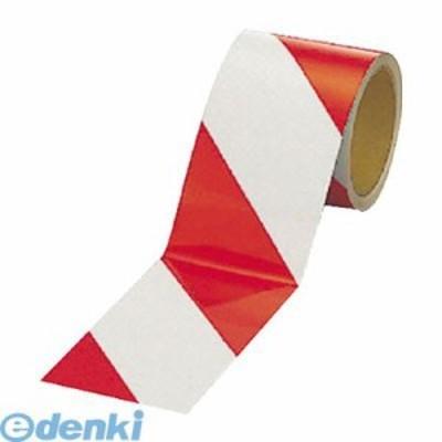 ユニット [374-12] 反射トラテープ【赤/白 ポリエステル樹脂フィルム 90mm幅×10m 37412