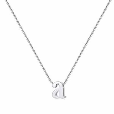 MONOOC ゴールドイニシャルネックレス 女の子用 14Kゴールドメッキ ミニマルイニシャルネックレス 小さな文字ネックレス アルファベット