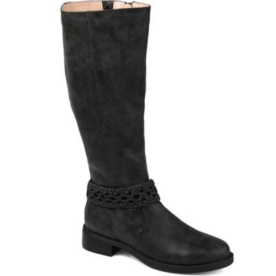 ジャーニーコレクション ブーツ&レインブーツ シューズ レディース Women's Extra Wide Calf Paisley Boot Black