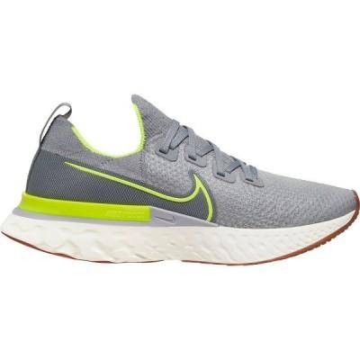 ナイキ シューズ メンズ ランニング Nike Men's React Infinity Run Flyknit Running Shoes Grey/Volt