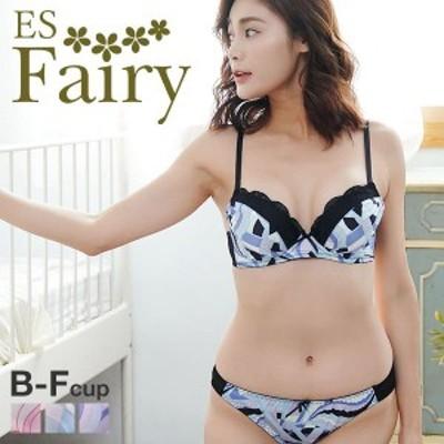 23%OFF (イーエスフェアリー)ES Fairy フレンチマルチ ブラショーツ セット BCDEF プチプラ 大人可愛い 大きいサイズ グラマー